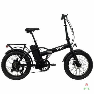 Bicicletta Elettrica E - Bike Bici Pieghevole 250 W Nero