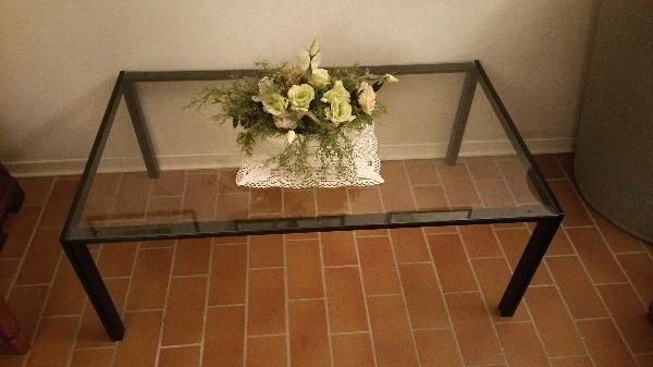 tavolo ferro battuto e vetro temperato a mantova in compra